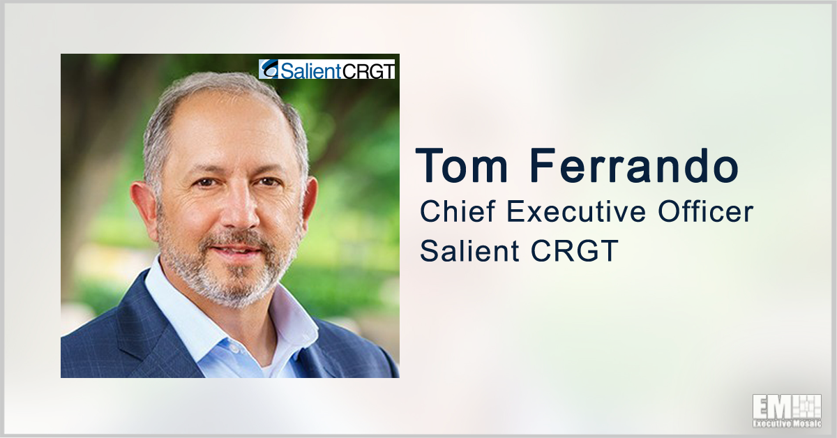 Salient CRGT Books $207M VA Task Order for Network Support Services; Tom Ferrando Quoted