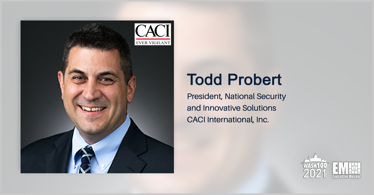 CACI Unveils 2 Counter-Drone Systems; Todd Probert Quoted