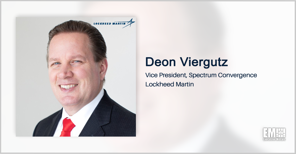 Deon Viergutz: Lockheed's Spectrum Convergence Unit Continues to Support DOD's Electromagnetic Warfare Programs - top government contractors - best government contracting event