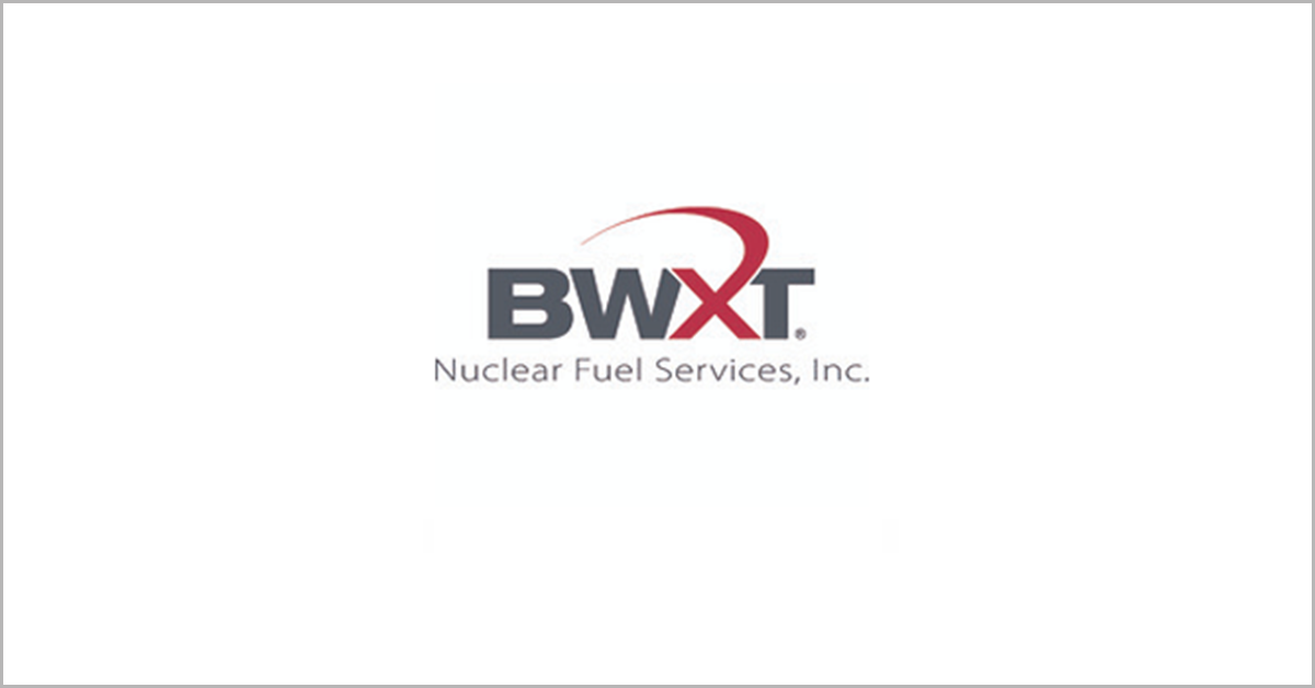 Ronald Dailey Named President of BWXT Subsidiary Nuclear Fuel Services; Joel Duling Quoted